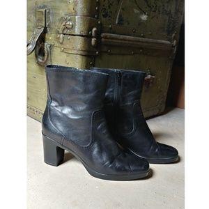 """Black 3"""" Heel Boots 10"""
